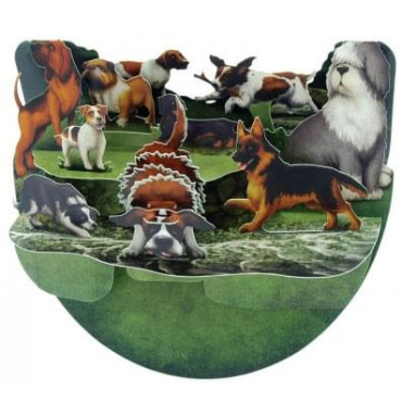 Carte Chiens 3D Pop-Up