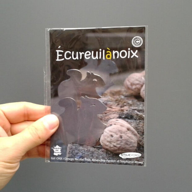 Ecureuil à Noix packaging carte postale