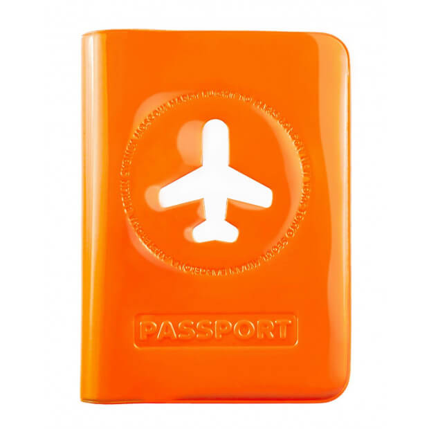 Protège-Passeport Happy Flight orange