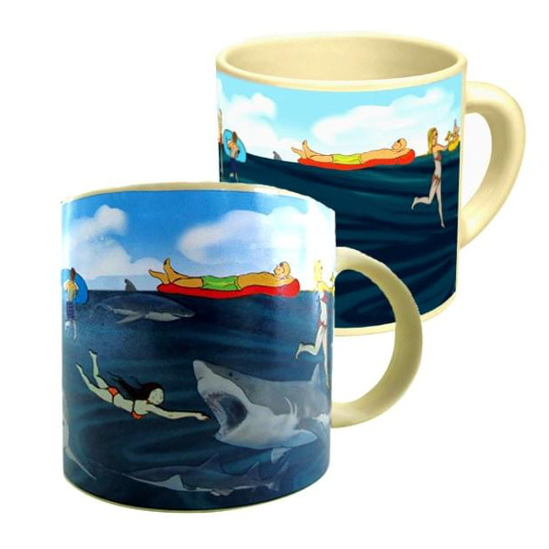 Mug Requin Thermoréactif les dents de la mer