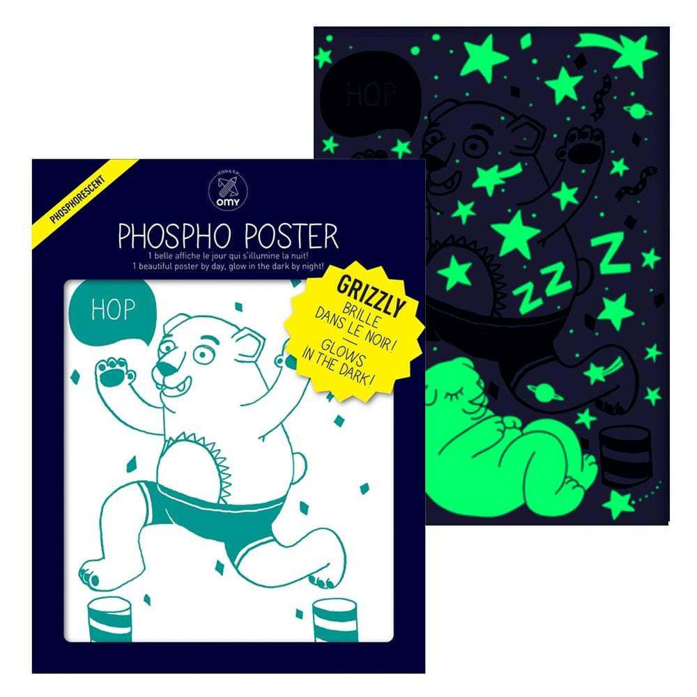Poster Ours Phosphorescent Grizzly