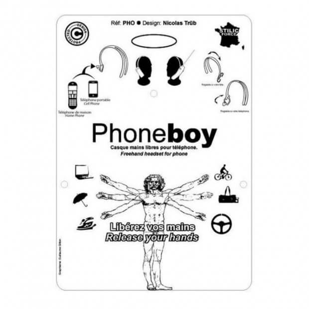 Casque Mains Libres PhoneBoy packaging