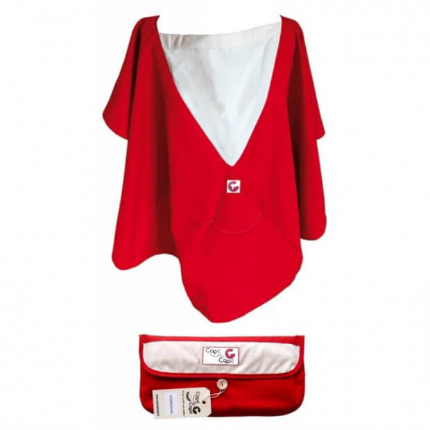 Cape d'Allaitement 100% Coton Made in France rouge
