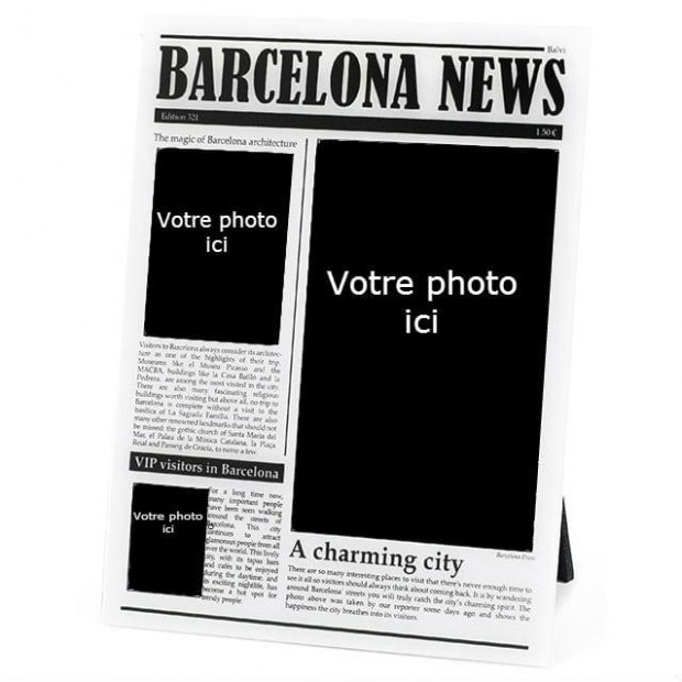 Cadre Photo Journal Barcelone image