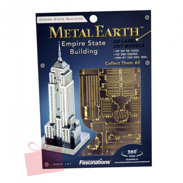 Maquette Métal 3D Empire State Building Emballage