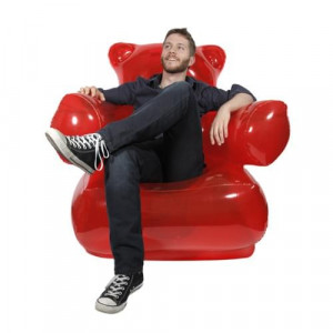 Fauteuil Ours Gummy fauteuil rouge