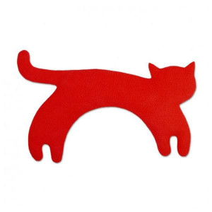 Coussin Chauffant Chat chat rouge