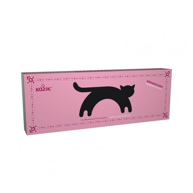Coussin Chauffant Chat packaging rose