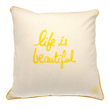 Coussin Life is Beautiful