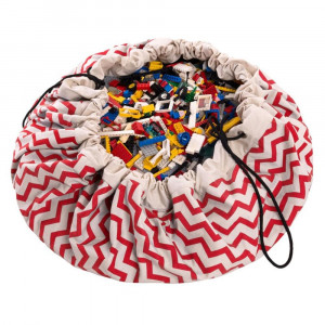 Sac Tapis de Jeu Play and Go Zigzag 100 % Coton