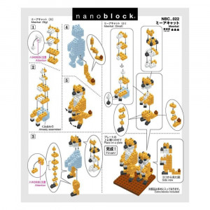 Nanoblock Suricates (x2) Notice