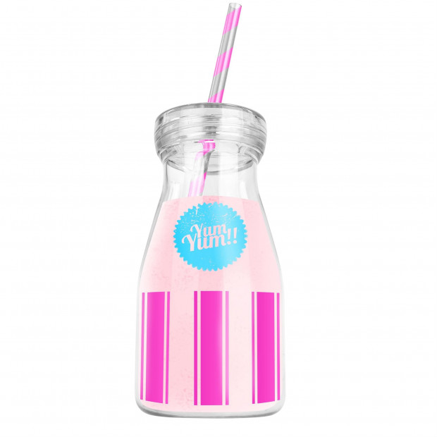 Bouteille à Smoothie Yum-Yum rose