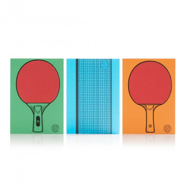 Carnets Ping Pong (x3) raquettes ping pong