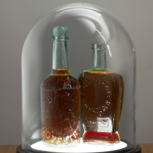 Lampe Cloche en Verre bouteille de collection