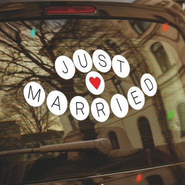 Stickers Voiture Just Married