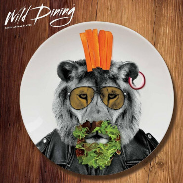 Assiette Wild Dining Larry Lion