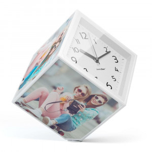 Cube Photo et Horloge Rotatif horloge originale