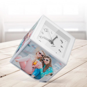 Cube Photo et Horloge Rotatif souvenir photo