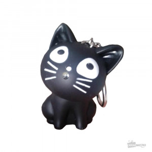 Porte-Clés Chat LED et Son Black
