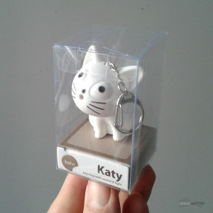 Porte-Clés Chat LED et Son Neige Packaging