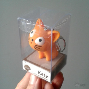 Porte-Clés Chat LED et Son Caramel Packaging