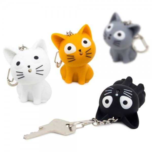 Porte cl s chat led et son cadeau maestro for Porte a chat