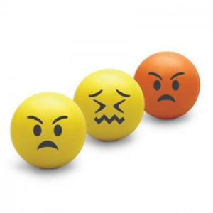 Balles Anti-Stress Emoji (x3) en mousse