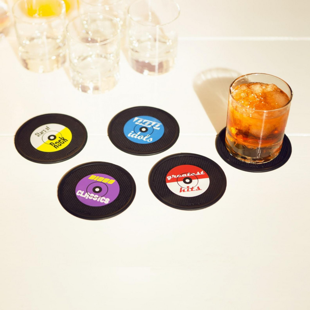 Sous-Verres Rock/Pop/Disco (x4)