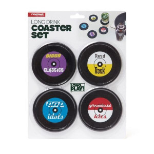 Sous-Verres Rock/Pop/Disco (x4) en silicone