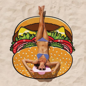 Serviette de Plage XXL Hamburger Serviette burger