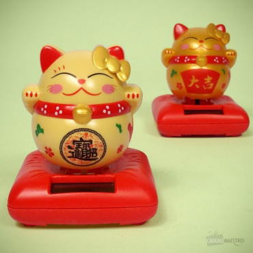 "Chat ""Lucky Cat"" Solaire"