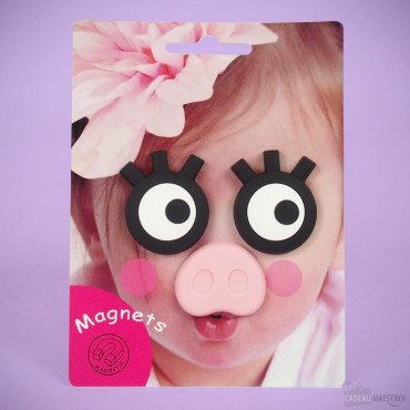 Magnets Cochon pour Photo d'Enfant