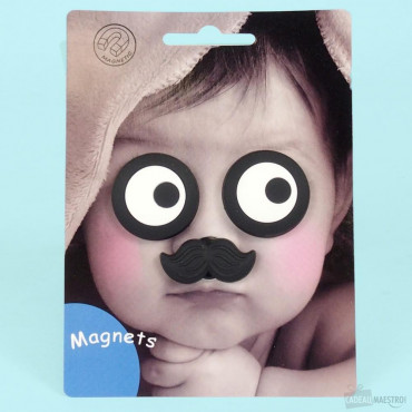 Magnets Moustache pour Photo d'Enfant