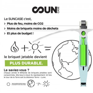 Briquet Solaire SunCase réduction pollution
