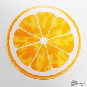 Sous-Verres Fruits (x6) orange