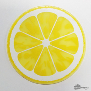 Sous-Verres Fruits (x6) citron jaune