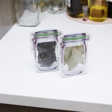 Mini Sacs Zip Mason Jar (x6)