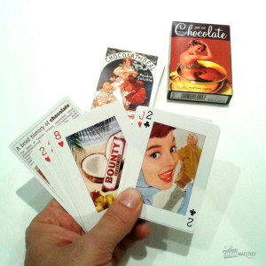 Jeu de Cartes Chocolats (x54) Bounty et Gourmande...