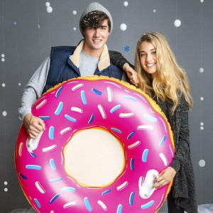 Luge Gonflable Donut couple