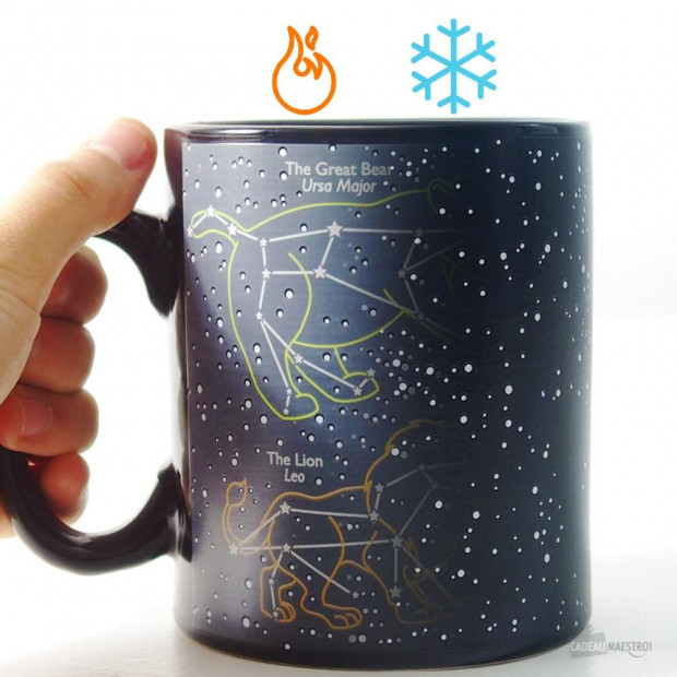 Mug 6 Constellations Thermoréactif chaud froid