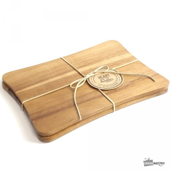 Sets de table en bois x2 cadeau maestro for Set de table originaux