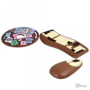 Set Chocolats Geek clavier, souris et CD