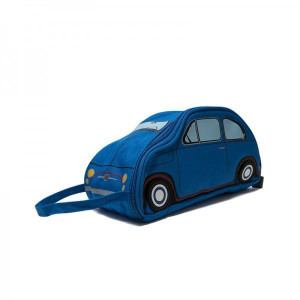Trousse de Toilette Fiat 500 bleu de travers