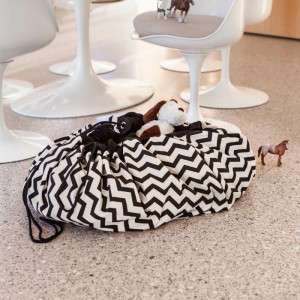 Sac Tapis de Jeu Play and Go Zigzag noir
