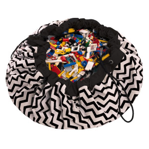 Sac Tapis de Jeu Play and Go Zigzag noir zig zag