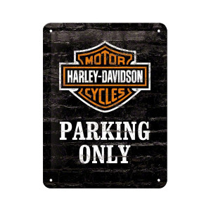 Plaque Métal Parking Harley moto club