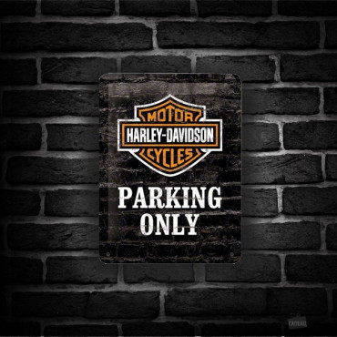 Plaque Métal Parking Harley
