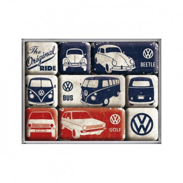 Set Magnets Volkswagen Vintage (x9)
