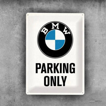 Plaque Métal Parking BMW