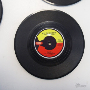 Sous-Verres Rock Vinyles (x4) Keep the Table Dry